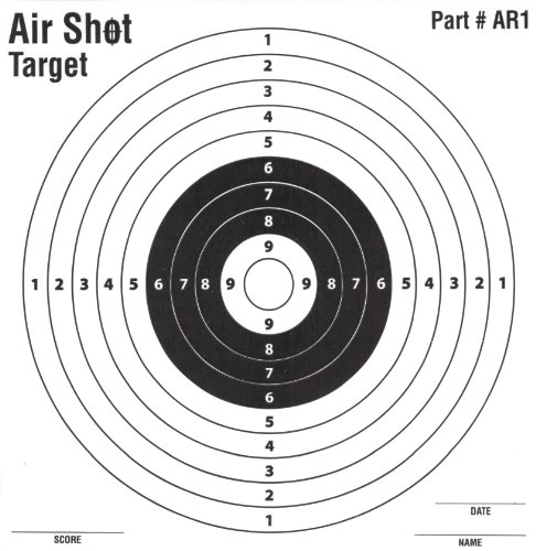 100 Pack - Air Shot Paper Targets - 5.5 By 5.5 - Fits Gamo Cone Traps - Part # AR1 (100 Pack AR1) (Paper Targets For Bb Guns)
