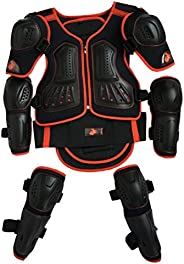 Takuey Kids Motorcycle Armor Suit Dirt Bike Chest Spine Protector Back Shoulder Arm Elbow Knee Protector Motoc