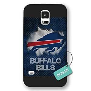 Onelee(TM) - Black Frosted Buffalo Bills Samsung Galaxy S5 Case & Cover - NFL LOGO Samsung Galaxy S5 Case & Cover - Black 5 by runtopwell