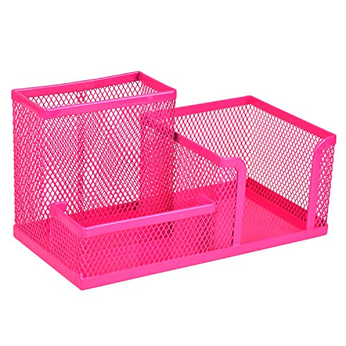 Homecube 3-Sections of Mesh holder - Hot Pink