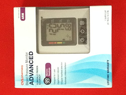 Cvs Pharmacy Blood Pressure Monitor Advanced Arm
