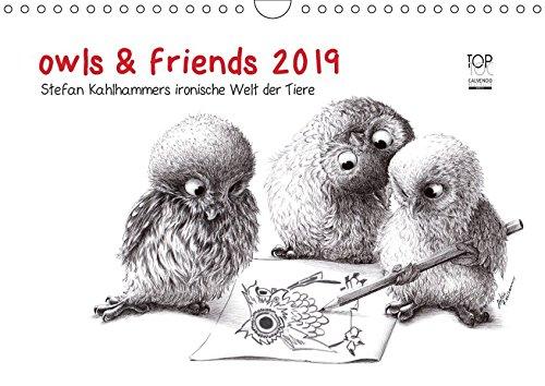 owls-friends-2019-wandkalender-2019-din-a4-quer-stefan-kahlhammers-fabelhafte-tierwelt-monatskalender-14-seiten-calvendo-spass