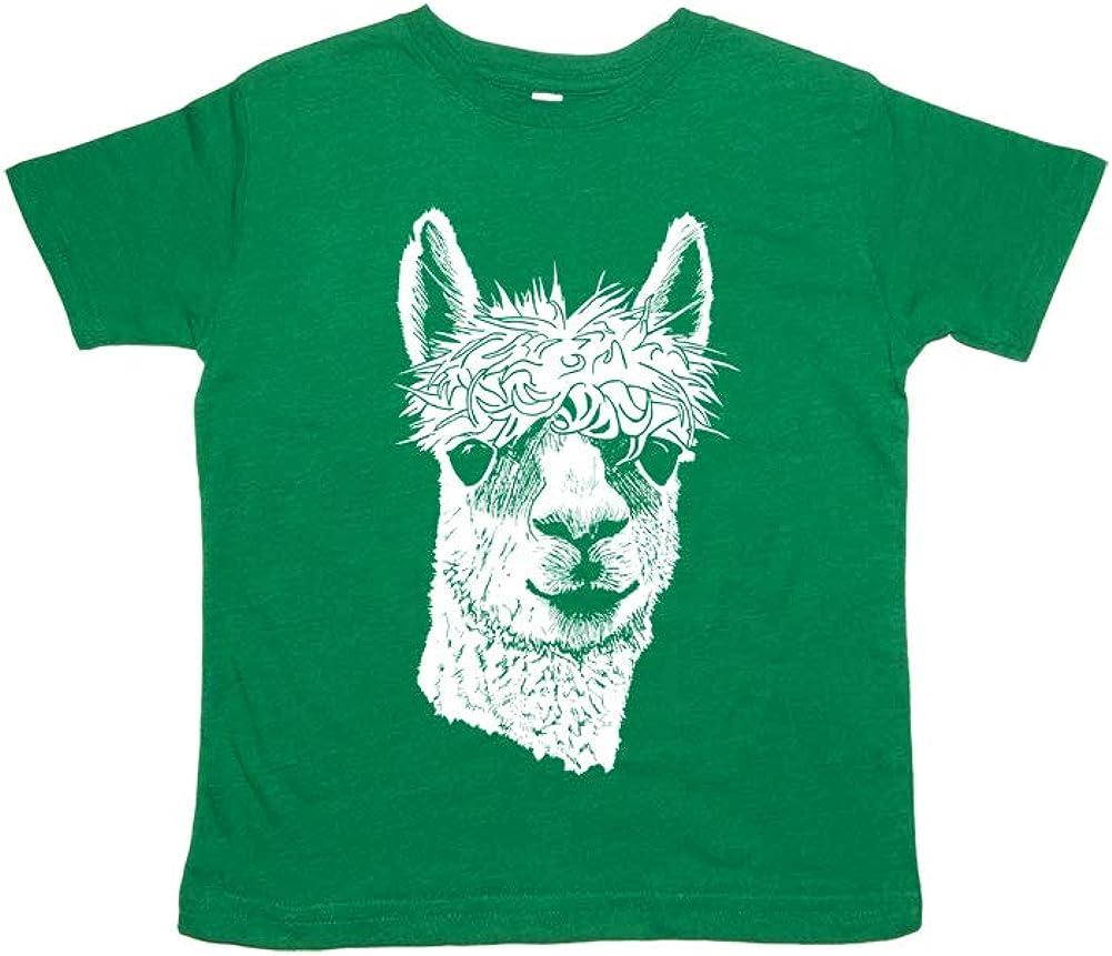 Sunshine Mountain Tees Boys Llama Shirt Vintage Style Blended Tshirt