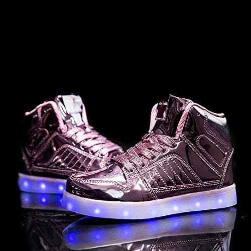 V2 Kids HI TOP LED Light Up Shoes Luminous Flashing Sneakers - 1