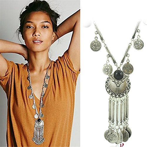 TraveT Tassels Bohemian Statement Necklace