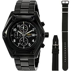 Uzi Men's UZI-18B Ballistic Chronograph Black Dial Zulu Strap Watch
