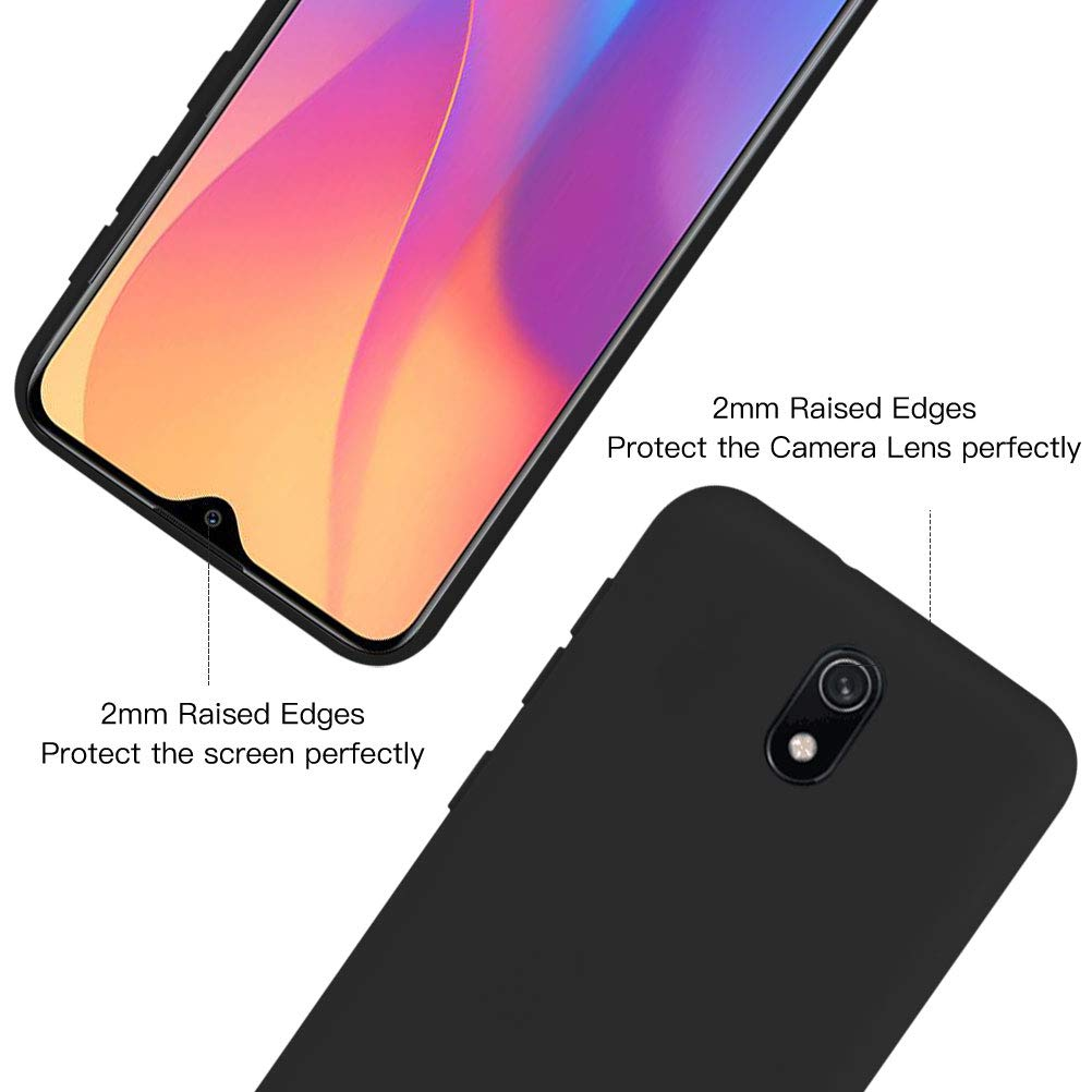 Rosa Protector Pantalla Funda para Xiaomi Redmi 8A XinYue Carcasa de Silicona L/íquida Gel Ultra Suave Funda con tapete de Microfibra Anti-Rasgu/ño