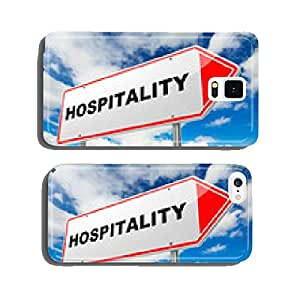 Hospitality on Red Road Sign. cell phone cover case iPhone5