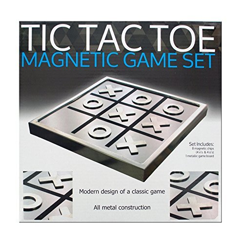 Magnetic Tic Tac Toe Board Game - Family Game (Wooden Tic Tac Toe Game)