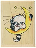 "Penny Black Rubber Stamp 2.5""X3""-Cat On The Moon"