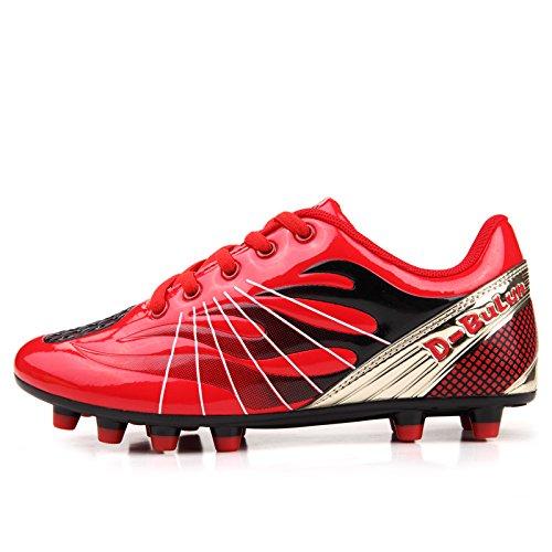 Xing Lin Fußballschuhe Jugend Fußball Schuhe Kaputt Nail Glue Fußball Schuhe Fußball Sportschuhe Reddish black