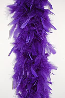 80 Gram Chandelle Feather Boa - PURPLE 2 Yards