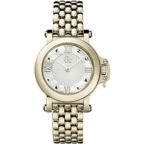 Guess Collection Femme Bijou X52004L1S 30mm Gold Plated Stainless Steel Case Gold Plated Stainless Steel Synthetic Sapphire Women's Watch