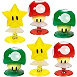Amscan Super Mario Brothers Birthday Party Mushrooms & Star Pop-Up Toy Favors, Multicolor, 1 1/4""