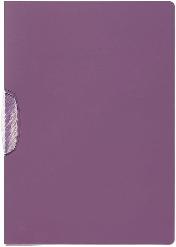 Durable 228312 Swingclip Trend Chemise de Pr/ésentation A4 30 feuilles Clip Pivotant Polypro Semi-opaque Violet Lot de 25