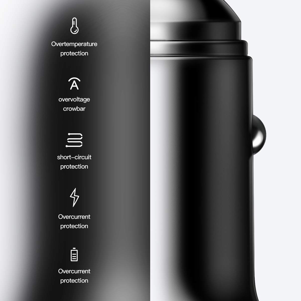 Samsung Galaxy Note8 and More Silver USB Car Charger Essager 24W 4.8A Metal Dual Car Adapter for iPhone Xs//Max//XR//X iPad Air//Pro