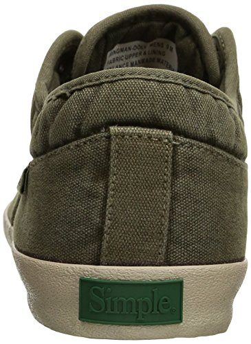 251a53ae11497f ... Einfacher Herren Wingman-D Fashion Sneaker Olive Leinwand ...