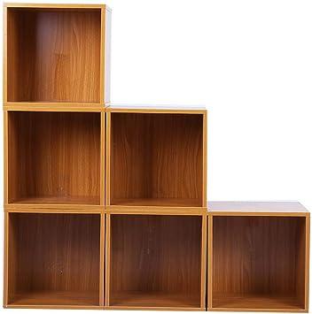 Juego de Estanterías en Forma de Cubos Estantería de Madera Independiente Librería de 6 Cubos 30 x 30 x 24cm: Amazon.es: Bricolaje y herramientas