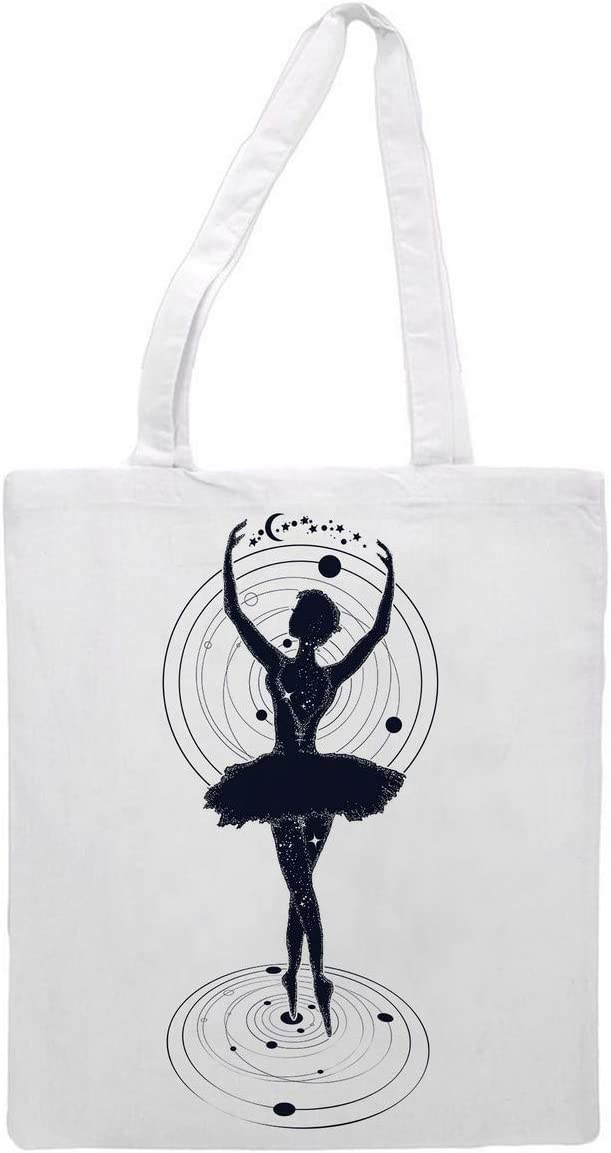 Womens Tote bag - Ballerina - Sports Gym Lunch Yoga Shopping Travel Bag Washable - 1.47X0.98 Ft