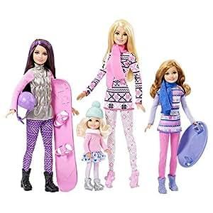 Amazon.com: Mattel Barbie - Sisters Winter Holiday Fun