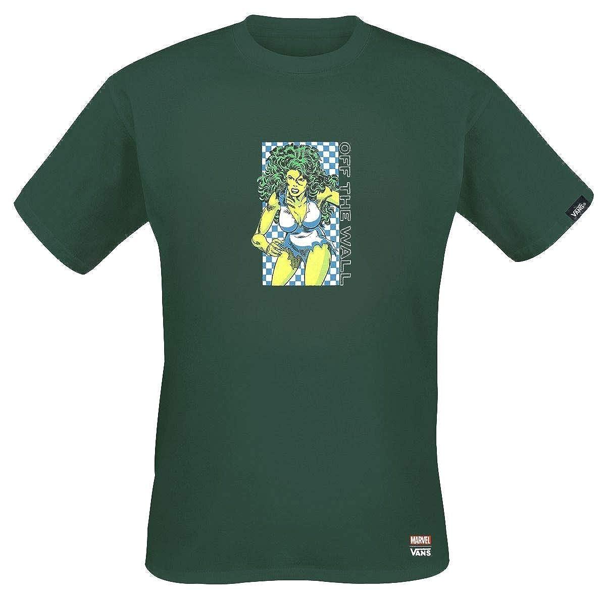 Vans X Marvel MN SHE-Hulk TEE Darkest Spruce (XX-Large) | Amazon.com