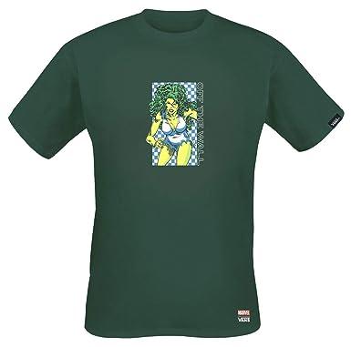 3ae09e4e49 Vans X Marvel MN SHE-Hulk TEE Darkest Spruce (XX-Large) | Amazon.com