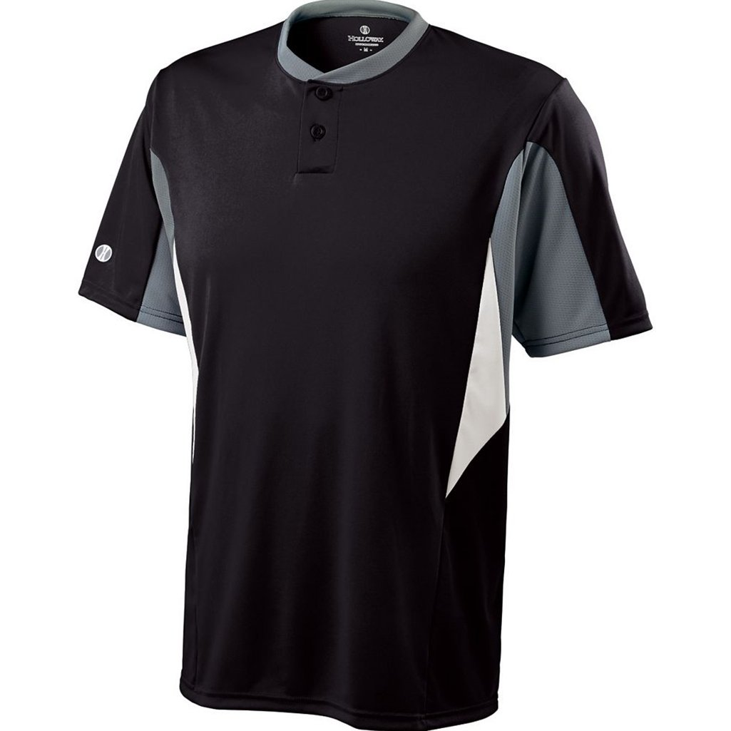 Holloway Dry-Excel Youth Rocket Jersey (X-Large, Black/Blue Grey/White)