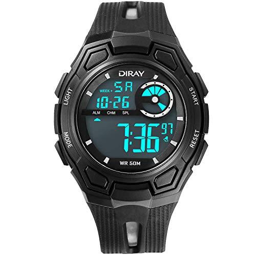DIRAY Outdoor Sport Watches for Men Digital Analog Watch Waterproof LED Wristwatch