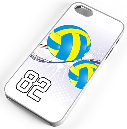 iPhone Case Fits iPhone 7 PLUS 7+ Volleyball Double Contact Any Custom Jersey Number 82 White - Number Athlete Shop Contact