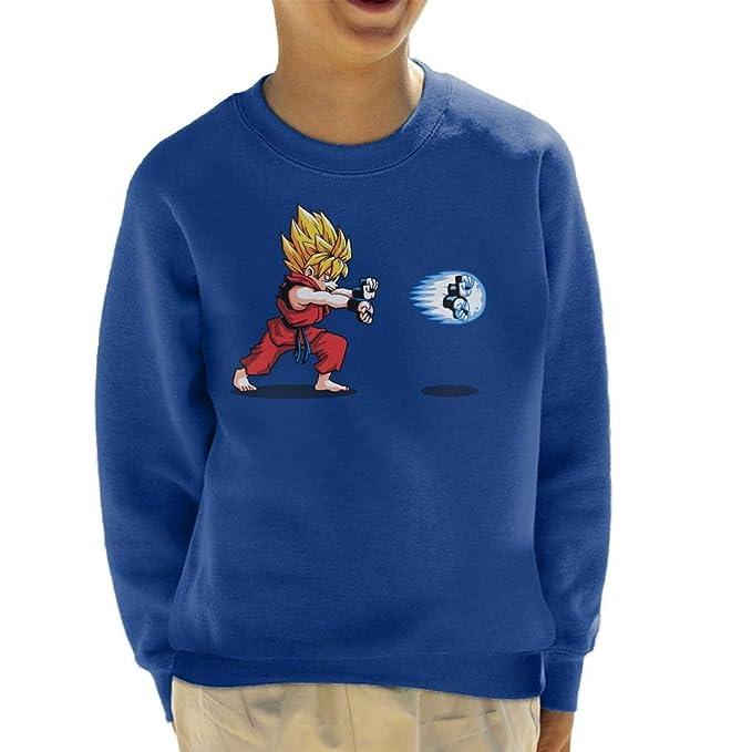 Cloud City 7 Saiyan Street Fighter Dragon Ball Z Hadouken Kids Sweatshirt