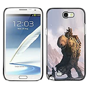 SKCASE Center / Funda Carcasa - Monster Piedra - Samsung Note 2 N7100