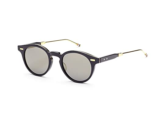 a1f621e728ba THOM BROWNE TB 806 C-NVY-GLD Navy18K Gold w  Dark Grey Flash-AR ...
