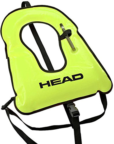 Mares Head Snorkel Vest, Yellow/Black Trim, Adult/X-Large/180 to 250 lb