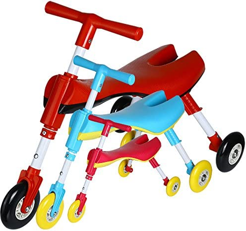 Non Scratch Wheels RED Pink Blue Medog Fly Bike Scooter Bug Foldable Toddlers Glide Ride On Toy IT Under CPC of CPSIA Three Color No Setup Required for Choose