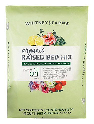 Whitney Farms 7505977 1.5 cu ft. Organic Raised Bed Soil (Raised Soil Garden Bed)