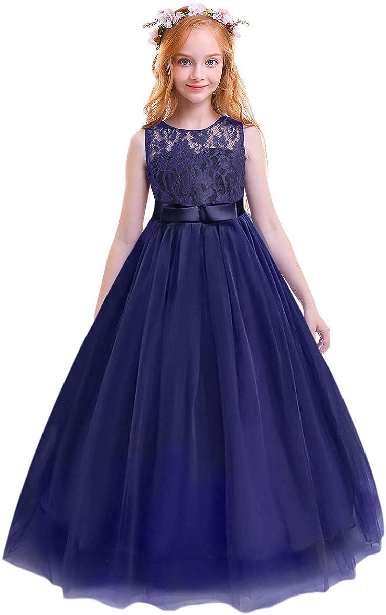 Flower Girl Dress Party Birthday Princess Bridesmaid Wedding Formal Bowknot Gown