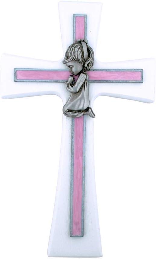 7 PINK OAK GIRLS WALL CROSS BABY INFANT CHRISTENING BAPTISM SHOWER
