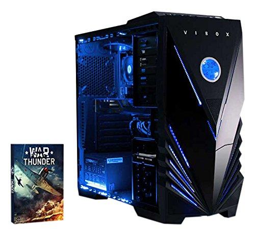 VIBOX Precision 6 Gaming PC Ordenador de sobremesa con War Thunder Cupón de juego (4,0GHz AMD FX Quad-Core Procesador, Nvidia Geforce GT 730, 8GB DDR3 1600MHz RAM, 1TB HDD, Ningún sistema operativo)