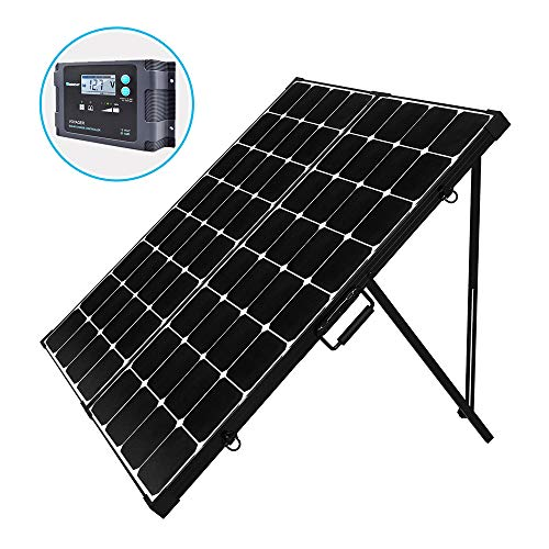 Renogy 200 Watt Off Grid Portable Foldable Solar Panel Suitcase Built-in Kickstand with Waterproof 20A Charger Controller, 200W-Waterproof