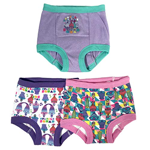 - Universal Trolls 3-Pack Toddler Girl Training Pants, 4T