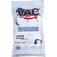 VACUUM AMERICA CLEAN VAC 4 PERFECT C105 H-10 HEPA Filtration (Pack of 9)