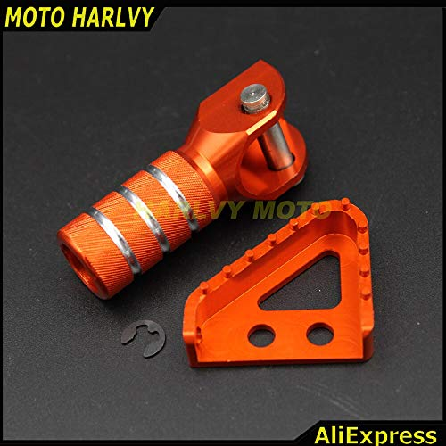 Alfred-Stores - One Set Gear Shifter Lever Tip & Billet Rear Brake Pedal Step Tips For KTM SX XCW SXF EXCF SMR LC4 MX ENDURO 125-530 690 950 990 ()