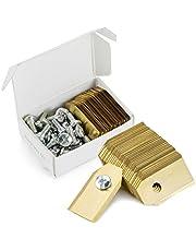 30 titanium reservemesbladen voor Husqvarna Automower en robotmaaier -0,75 mm - incl. 30 schroeven - geschikt voor 305 315 420 430X R38Li R40Li enz.