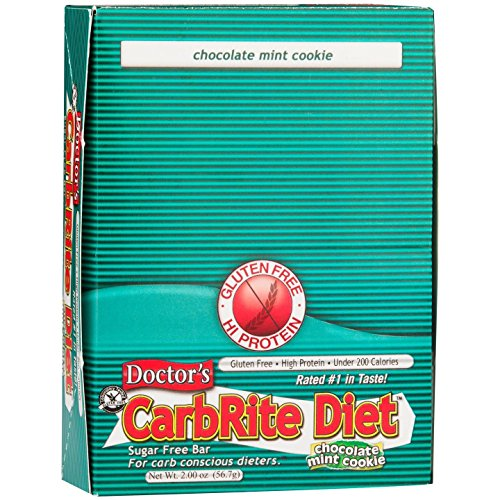 - Doctor's CarbRite Diet Chocolate Mint Cookie Bars, 2 oz, 12 count