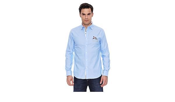 Pedro del Hierro Camisa Sport Coderas Azul L: Amazon.es: Ropa