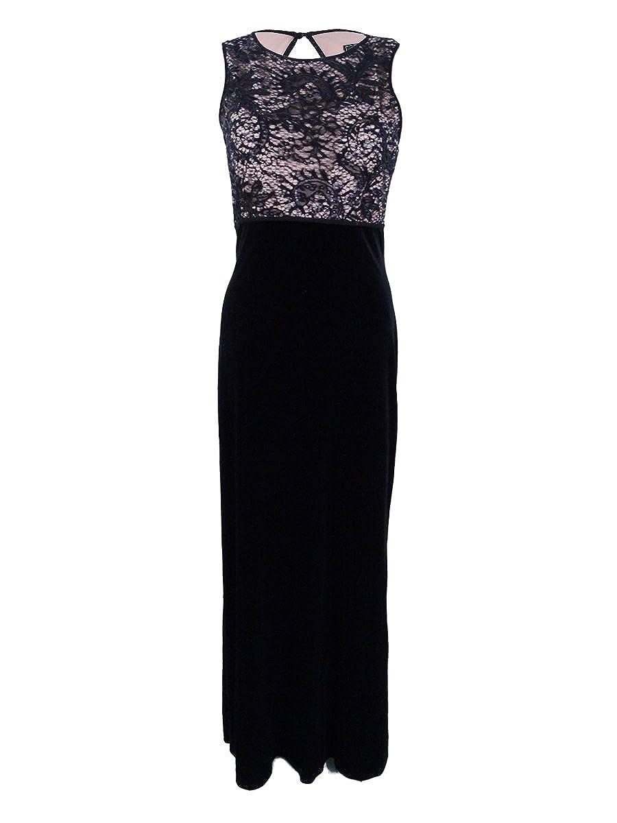 bc587eafb12 Nightway Deep Womens Lace Velvet Illusion Sheath Dress at Amazon Women s  Clothing store