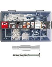TOX Assortiment Koffer Plug and Play, 320-delig met multifunctionele pluggen Trika 5x31 mm, 6x36 mm, 8x51 mm + perfect afgestemde schroeven 01190101