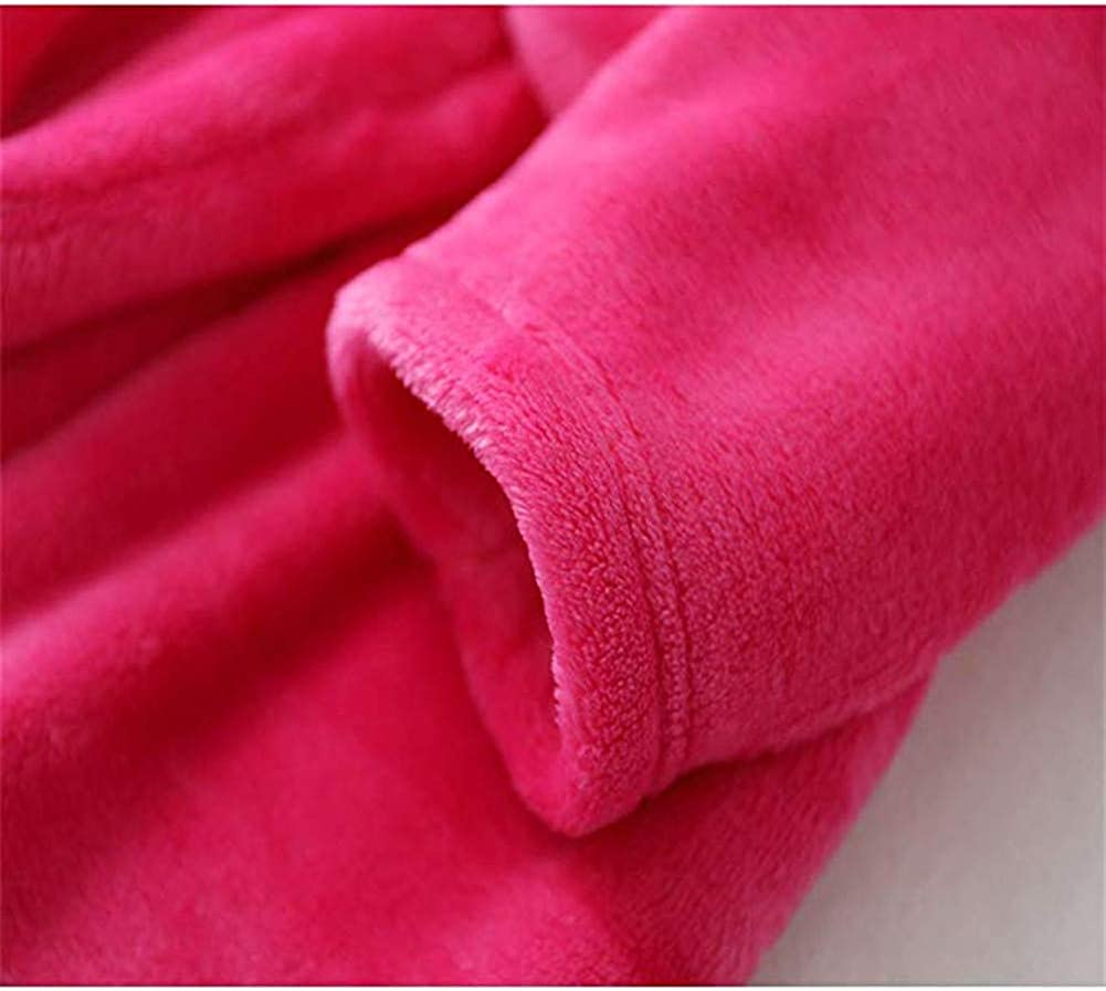 BAOPTEIL Boys /& Girls Bathrobes,Unisex Childrens Flannel Bathrobes Hooded Animal Sleepwear Unicorn Robes for Kids