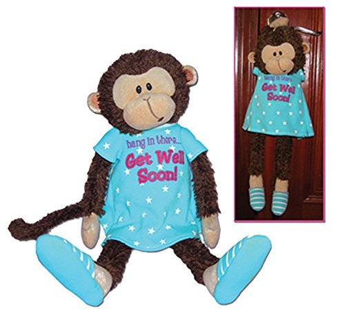 - Mendin Monkey Feel Better Get Well Soon Plush Stuffed Animal