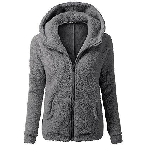 smartland-womens-winter-long-sleeve-full-zip-soft-fleece-hooded-jumper-hoody-jacket-coat-m-darkgray